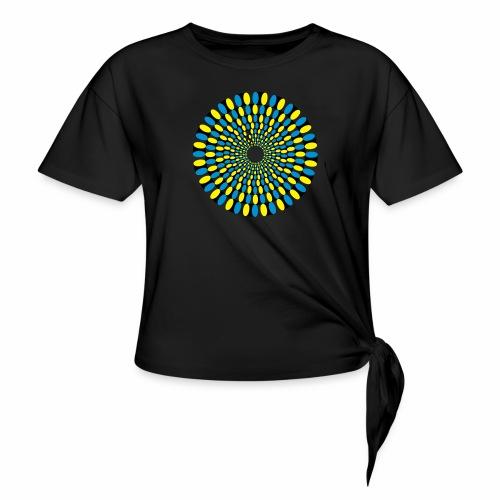 Optische Taeuschung - Frauen Knotenshirt
