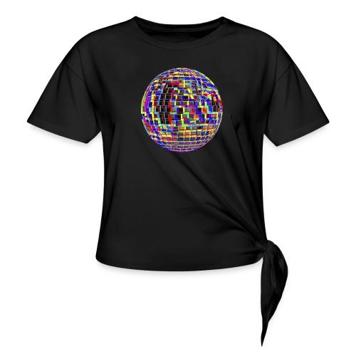Boule à facettes psychédélique - T-shirt à nœud