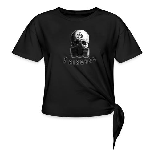 Trisquel Negro - Camiseta con nudo mujer