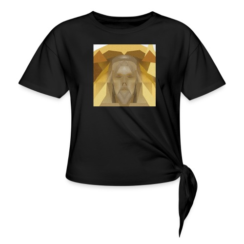 In awe of Jesus - Women's Knotted T-Shirt