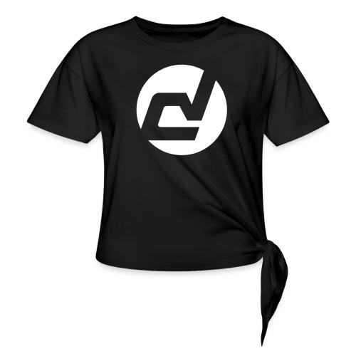 logo blanc - T-shirt à nœud