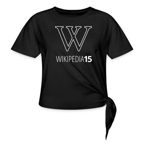 W, rak, svart - T-shirt med knut