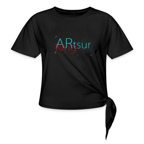 ARtsurKing Logo - Women's Knotted T-Shirt