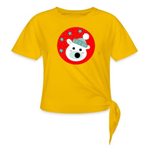 Winter bear - Women's Knotted T-Shirt