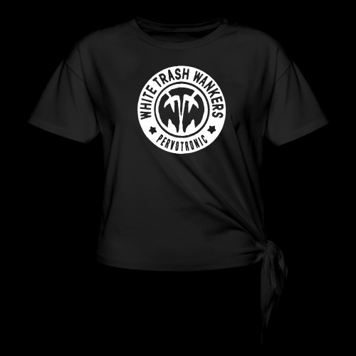 White Trash Wankers Pervotronic-Logo - Frauen Knotenshirt