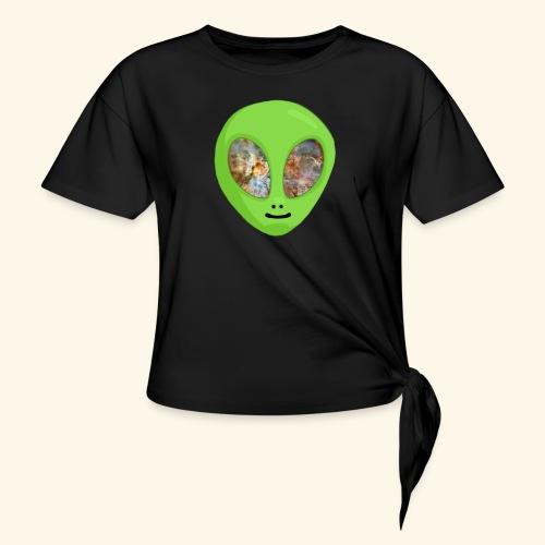 Alien hoofd 1 - Vrouwen Geknoopt shirt