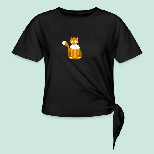 Kitty cat - Knotted T-Shirt