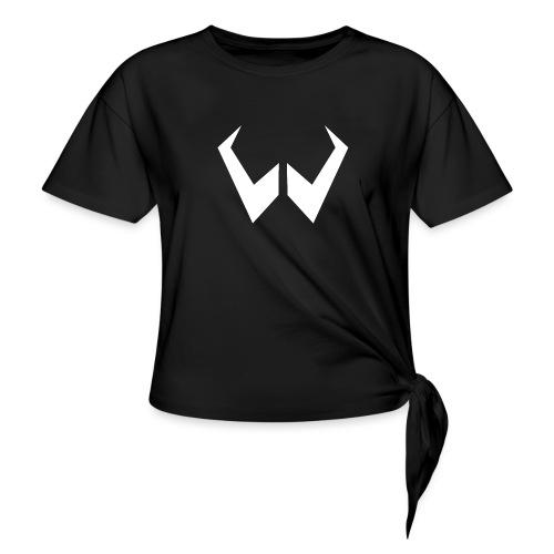 logo de without gravity pk - Camiseta con nudo