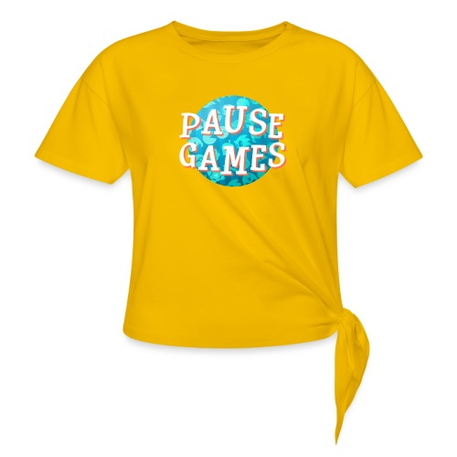 Pause Games New Version - Women's Knotted T-Shirt