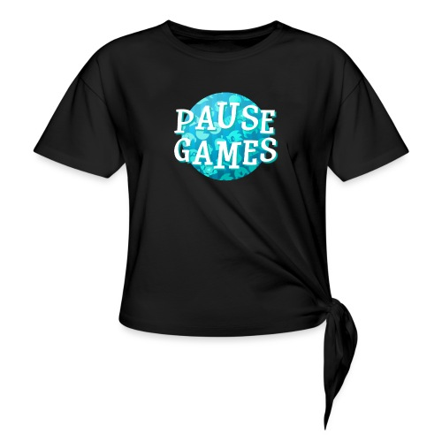 Pause Games New Design Blue - Knotted T-Shirt