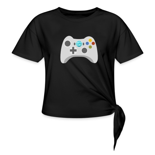 Pause Games Controller Logo - Knotted T-Shirt