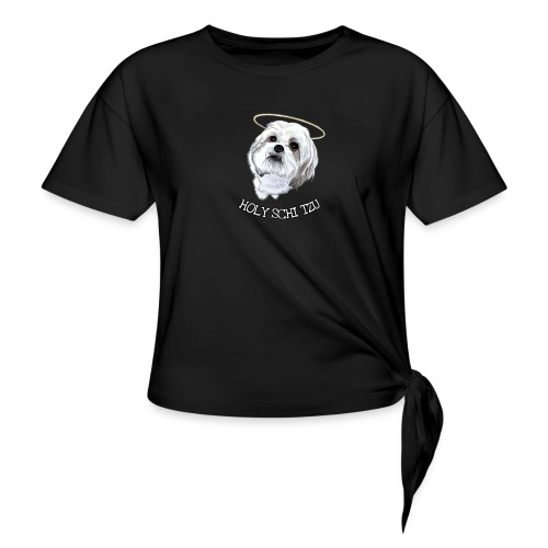 HOLY SCHI TZU - Knotted T-Shirt