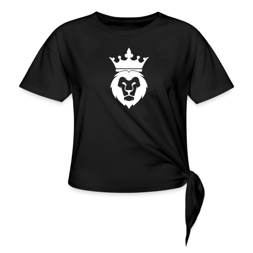 Lion_Logo_with_Crown_St--rre_bild_-white- - T-shirt med knut dam