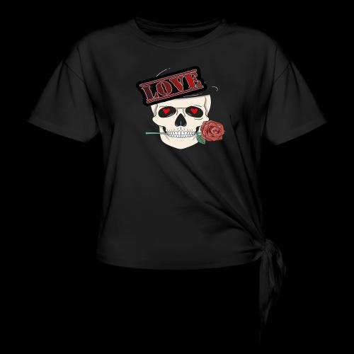 Skull Love - Frauen Knotenshirt