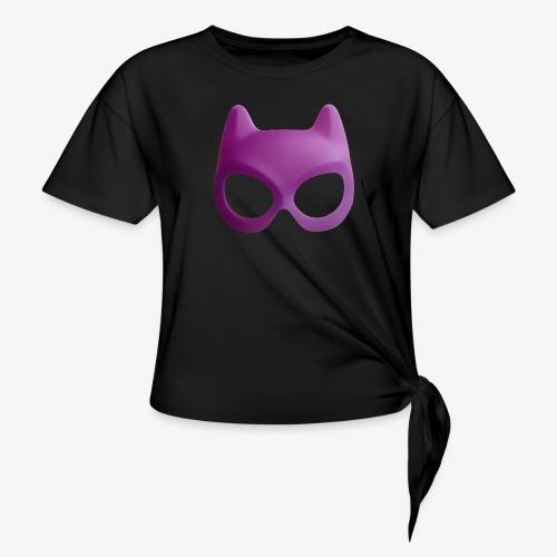 Bat Mask - Koszulka damska z wiązaniem