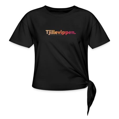 En podd om teknik - Second Edition Black - T-shirt med knut dam