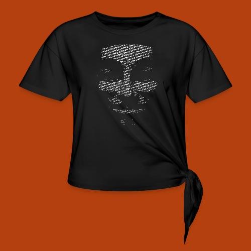 Anonymous - T-shirt à nœud Femme