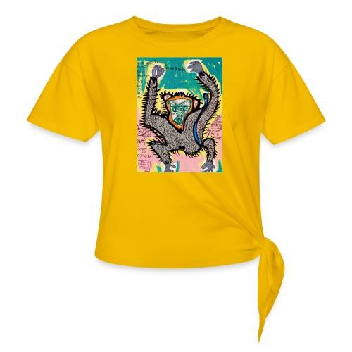 the monkey - Maglietta annodata da donna