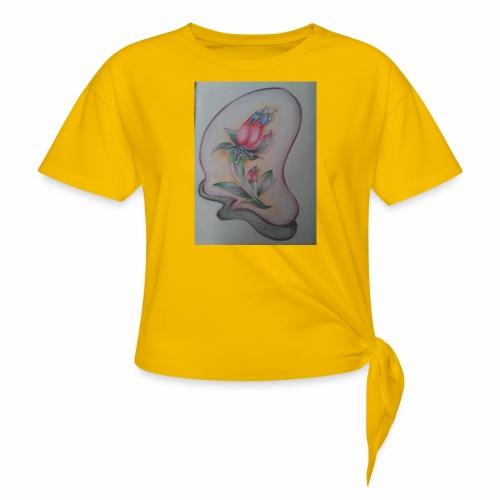 fiore magico - Maglietta annodata da donna