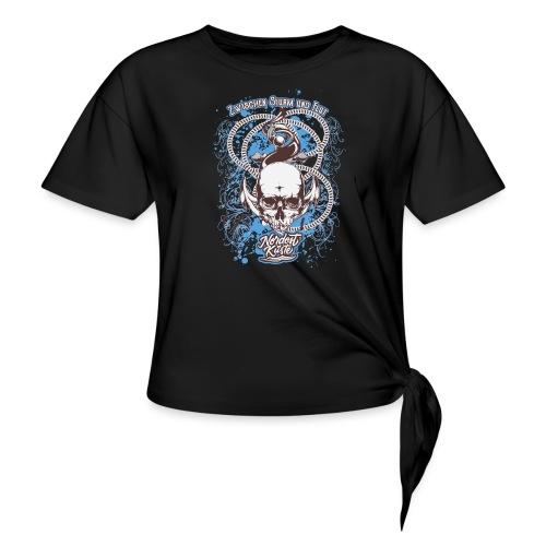 Skull Anker Design Art - Knotenshirt