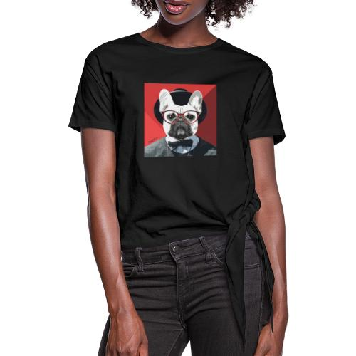 French Bulldog Artwork 2 - Frauen Knotenshirt