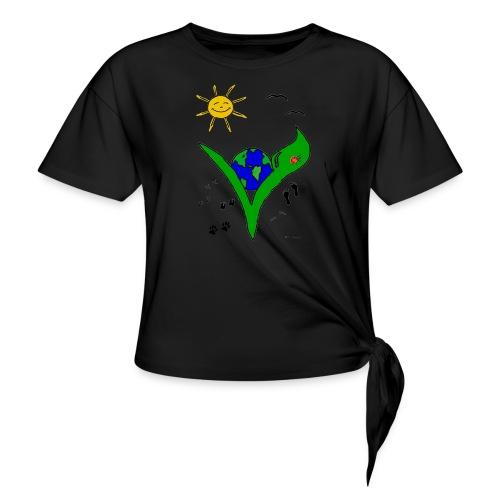 Ein Logo geht um die Welt - Knotenshirt