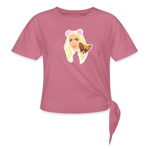 Yumi Troja - T-shirt med knut dam