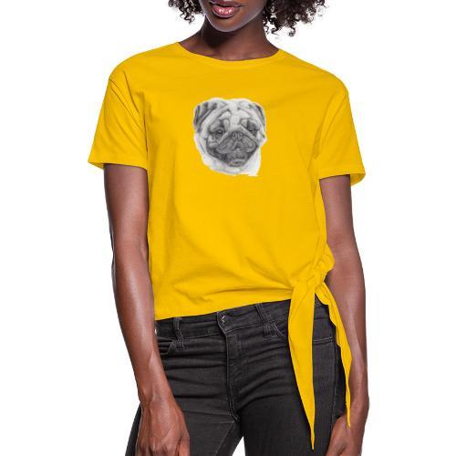 Pug mops 2 - Dame knot-shirt
