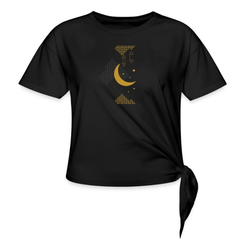 Ramadan Kareem Muslim holy month ilustration - Knotted T-Shirt