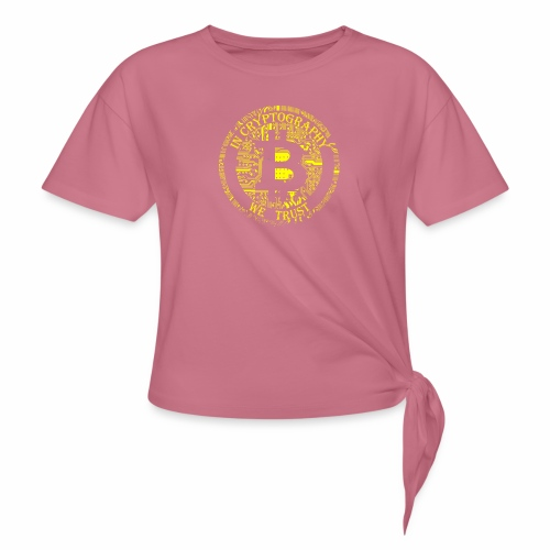 In cryptography we trust 2 - Women's Knotted T-Shirt