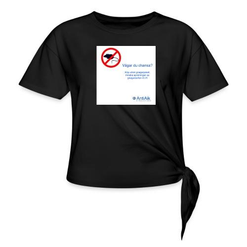 AntiAik - T-shirt med knut dam