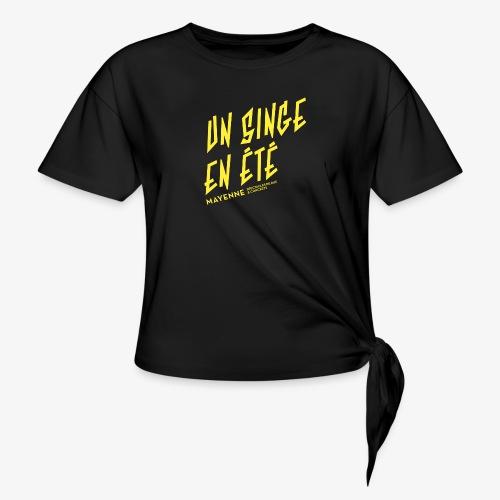 LOGO baseline jaune - T-shirt à nœud Femme
