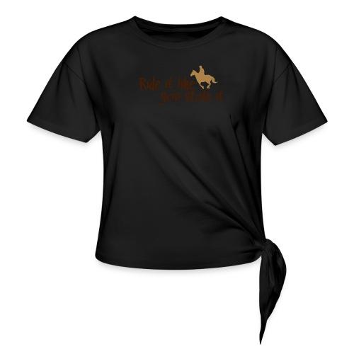 reiten - Knotenshirt