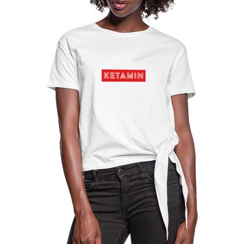 KETAMIN Rock Star - Weiß/Rot - Modern - Knotted T-Shirt