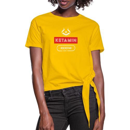KETAMIN Rock Star - Weiß/Rot - Modern - Women's Knotted T-Shirt