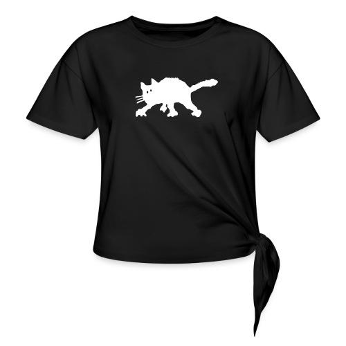 Katze - Frauen Knotenshirt