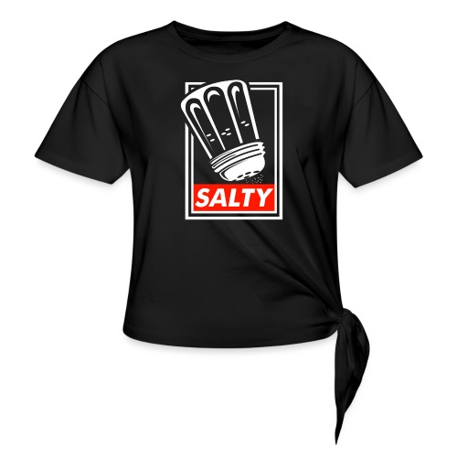 Salty white - Knotted T-Shirt