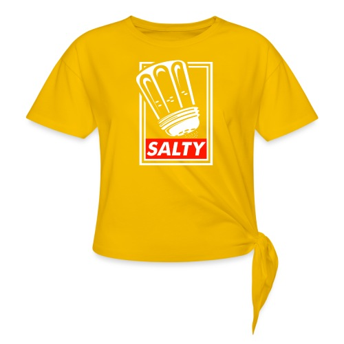 Salty white - Women's Knotted T-Shirt