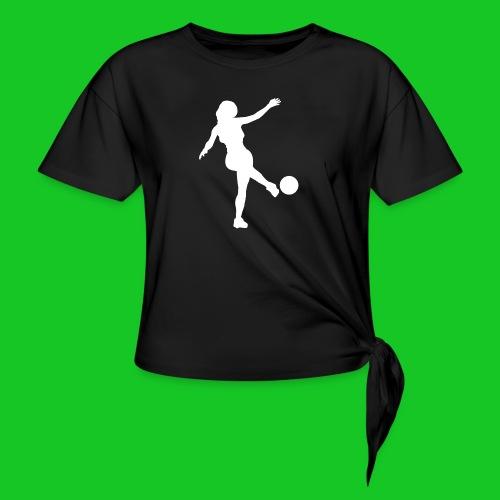 Voetbal vrouw - Geknoopt shirt