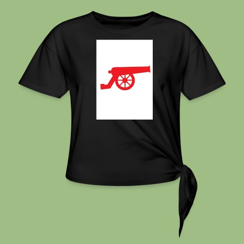 AFC Cannon - Red - T-shirt med knut dam