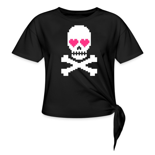 Skull Love - Vrouwen Geknoopt shirt