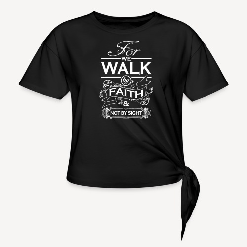 walk white - Knotted T-Shirt