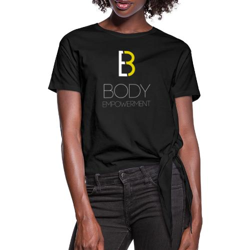 Body Empowerment Logo 4 - Women's Knotted T-Shirt