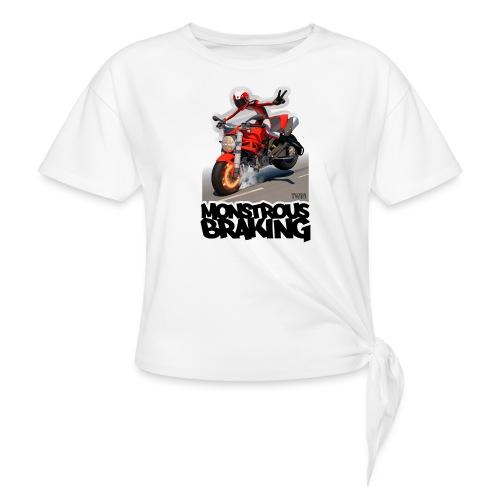 Ducati Monster, a motorcycle stoppie. - Camiseta con nudo