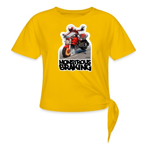 Ducati Monster, a motorcycle stoppie. - Camiseta con nudo