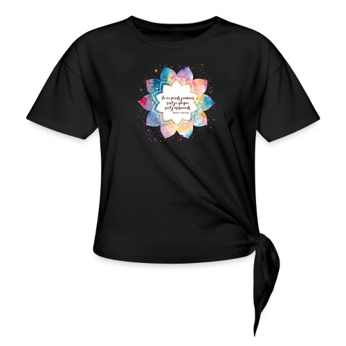 Citation de Nelson Mandela - T-shirt à nœud Femme