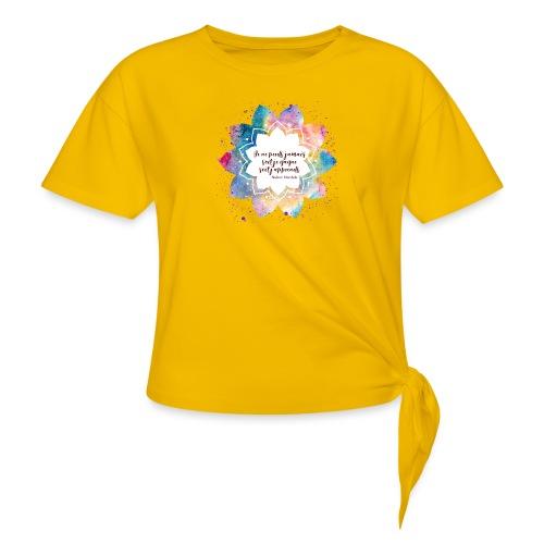Citation de Nelson Mandela - T-shirt à nœud Femme