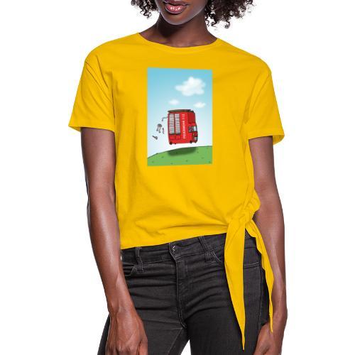 Feuerwehrwagen - Frauen Knotenshirt