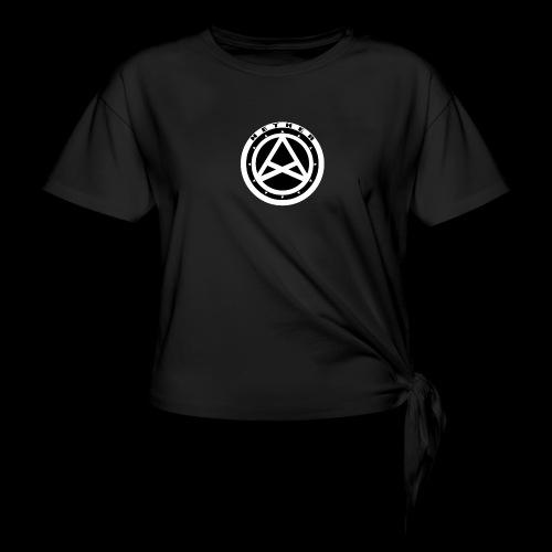 Nether Crew Black\White T-shirt - Maglietta annodata da donna