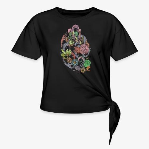 Flower Power - Rough - T-shirt med knut